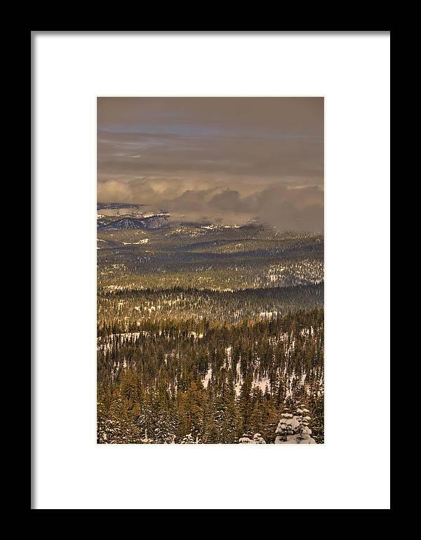 Sierra Framed Print featuring the photograph Sierra Nevada Winter Vista by Paul Owen