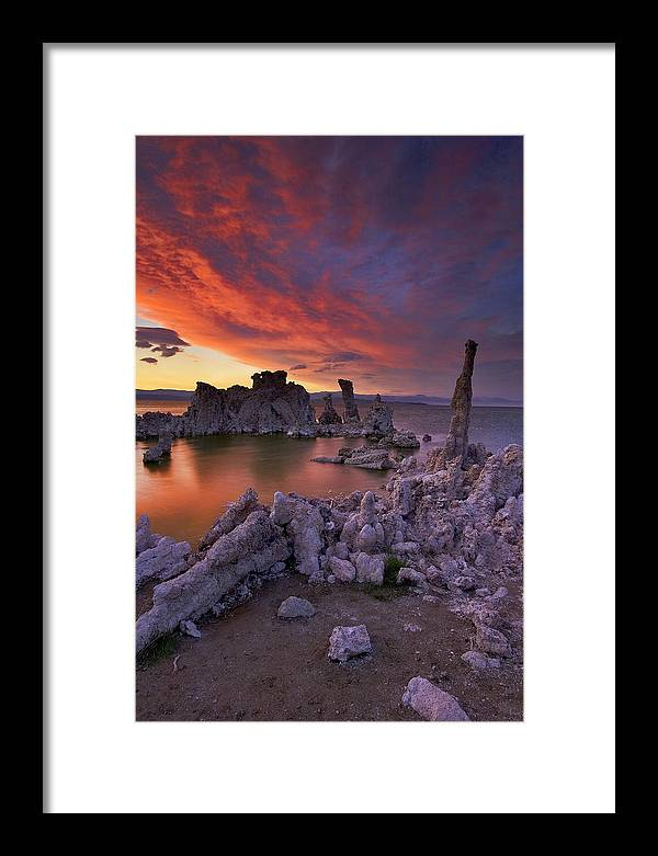 Landscape Framed Print featuring the photograph Sierra Wave On Mono Lake by Patrick Flood