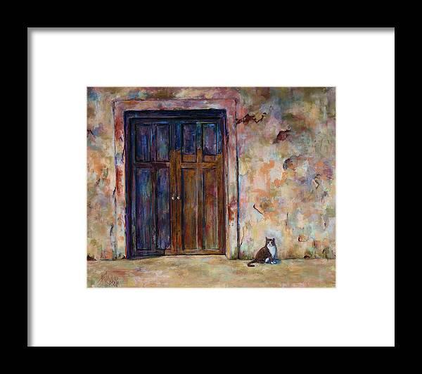Doorway Framed Print featuring the painting Siesta by Billie Colson