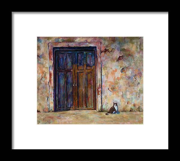 Doorway Framed Print featuring the painting Siesta by Billie Colson