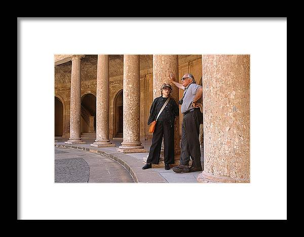 Jez C Self Framed Print featuring the photograph Sightseers by Jez C Self