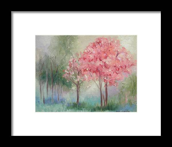 Spring Framed Print featuring the painting Sign Of Spring by Ginger Concepcion