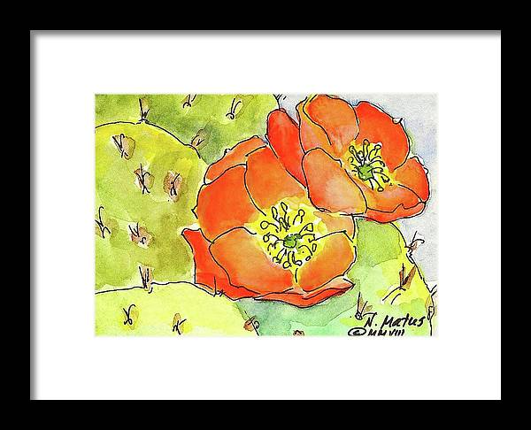 Desert Framed Print featuring the painting Sign Of Spring by Nancy Matus