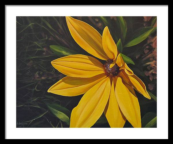 Wildflower Framed Print featuring the painting Sign of Summer by Hunter Jay