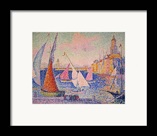 1899 Framed Print featuring the photograph Signac: St. Tropez Harbor by Granger