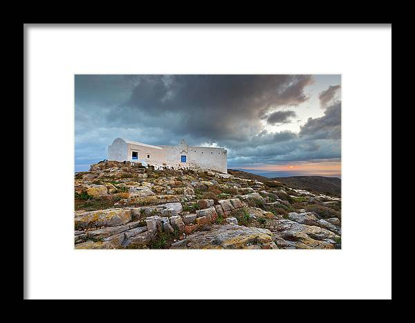 Sikinos Framed Print featuring the photograph sikinos 'V by Milan Gonda