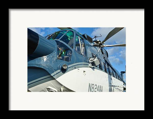 Sikorsky S-61n Framed Print featuring the photograph Sikorsky S-61n by Lynda Dawson-Youngclaus