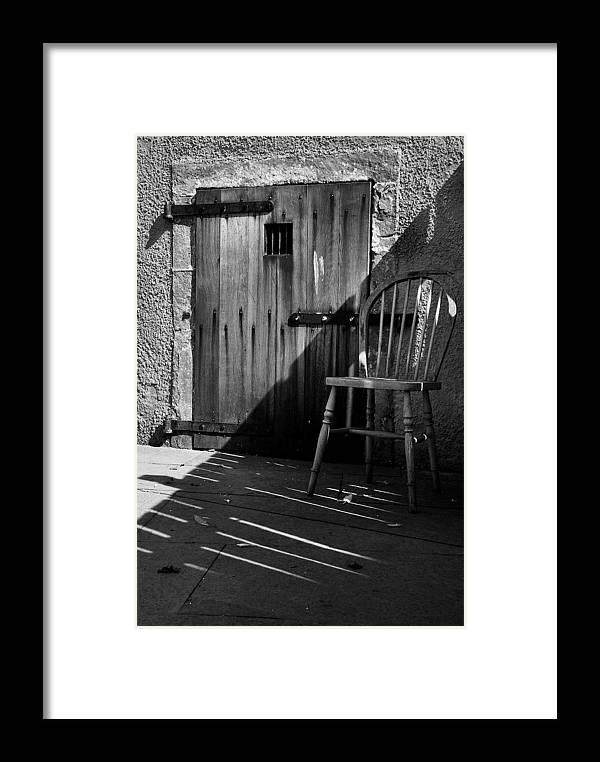 Chair Framed Print featuring the photograph Silence by Fraser Davidson