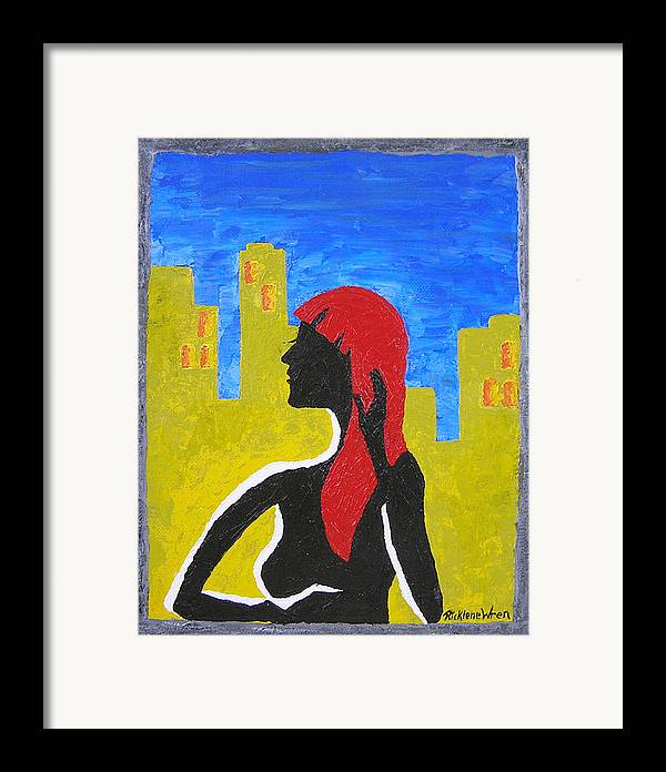 City Framed Print featuring the print Silence In The City by Ricklene Wren