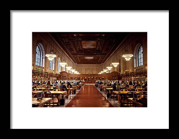 Library Framed Print featuring the photograph Silence In The Library by Heidi Reyher