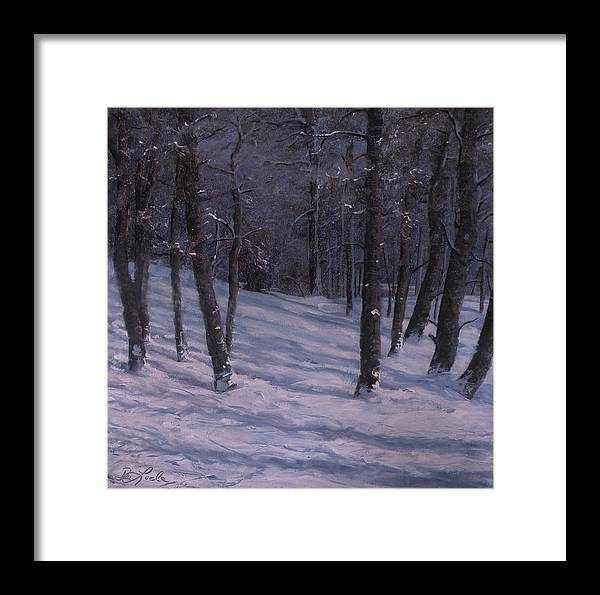 Western Art Framed Print featuring the painting Silence by Mia DeLode