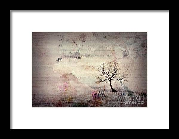 Tree Framed Print featuring the digital art Silence To Chaos - 5502c2v by Variance Collections
