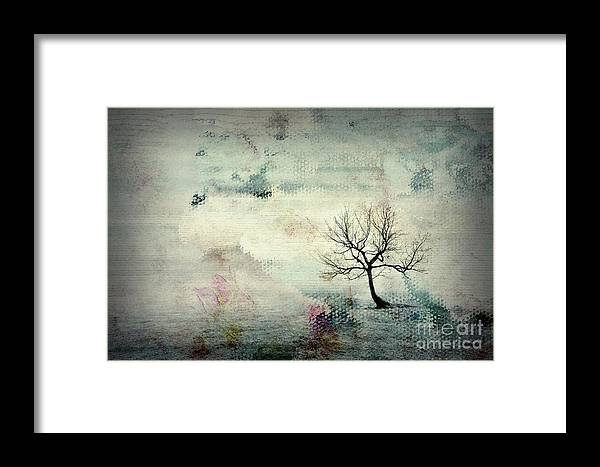 Tree Framed Print featuring the digital art Silence To Chaos - 5502c3 by Variance Collections