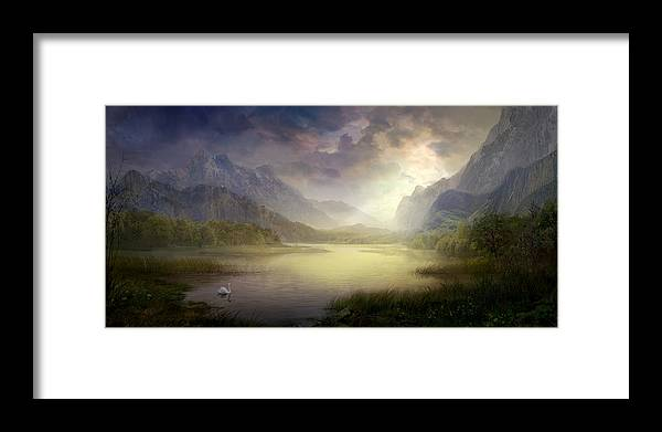 Utherworlds Framed Print featuring the painting Silent Morning by Philip Straub