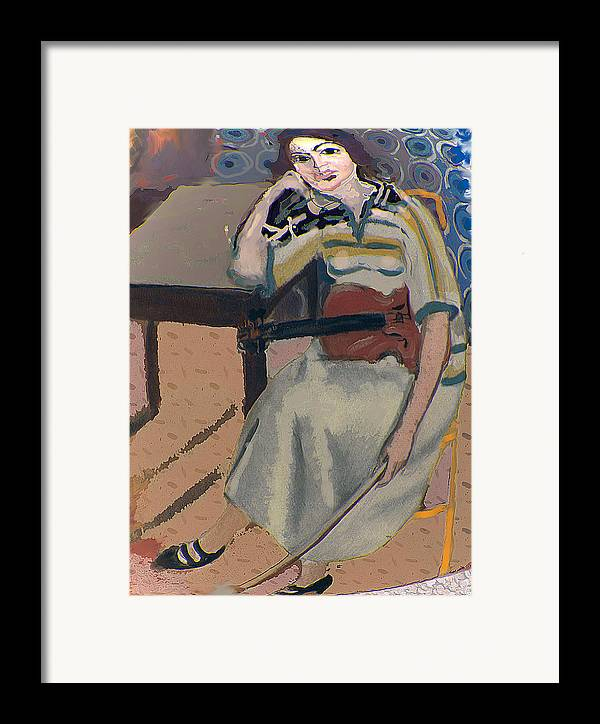 Homage To Matisse Framed Print featuring the painting Silent Note by Noredin Morgan