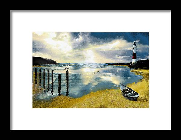 Ocean Framed Print featuring the painting Silent Ocean by Anne Weirich