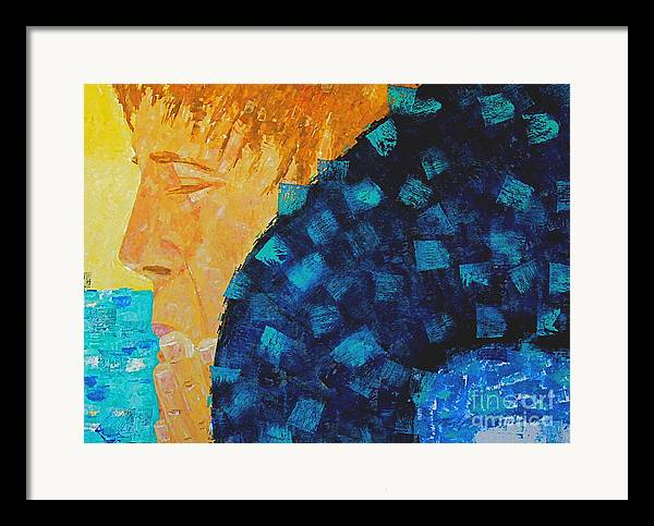 Swimming Framed Print featuring the painting Silent Prayer by Art Mantia