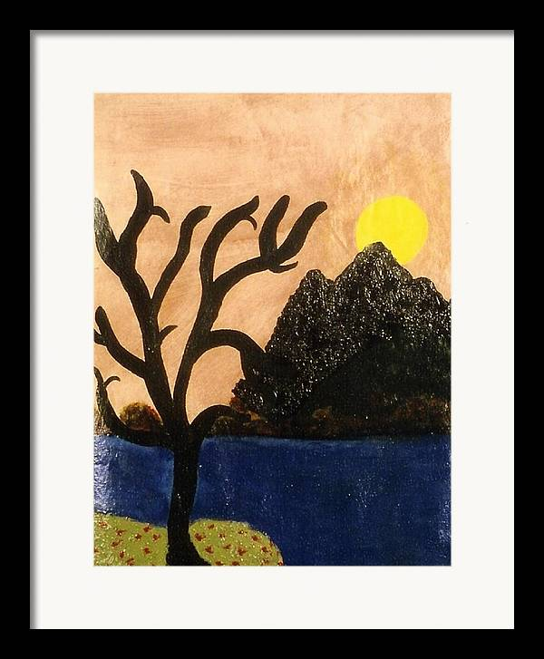 Landscape Framed Print featuring the painting Silent by Ruth El