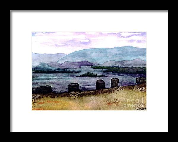 Original Painting Framed Print featuring the painting Silent Sentinels by Patricia Griffin Brett