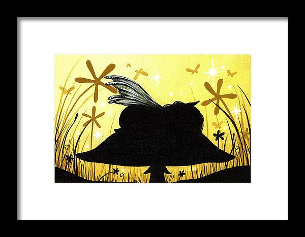 Fantasy Fairy Framed Print featuring the painting Silent Slumber by Elaina Wagner