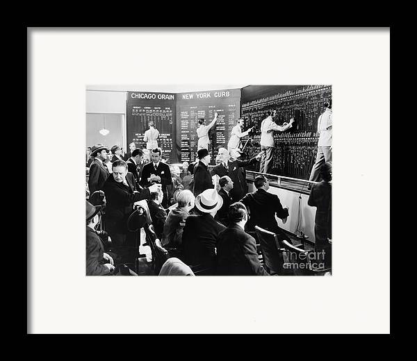 -banks & Banking- Framed Print featuring the photograph Silent Still: Banking by Granger