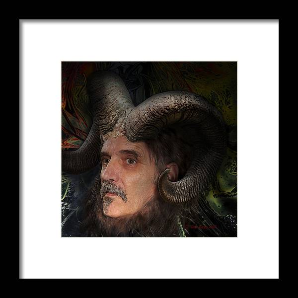 Surrealism Framed Print featuring the digital art Silenus by Otto Rapp