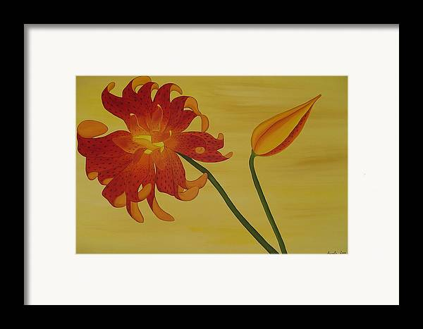 Marinella Owens Framed Print featuring the painting Silicum Langfoliom by Marinella Owens
