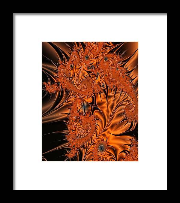 Silk Framed Print featuring the digital art Silk in Orange by Ron Bissett
