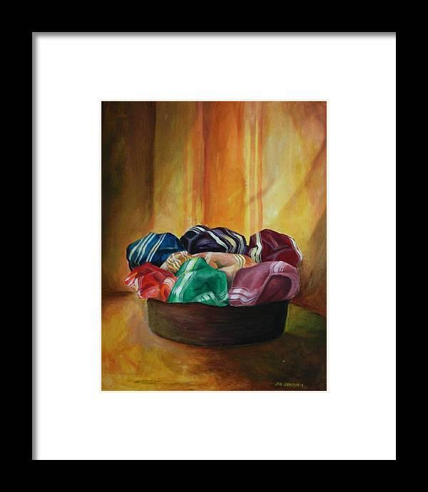 Silk Framed Print featuring the painting Silk by Jun Jamosmos