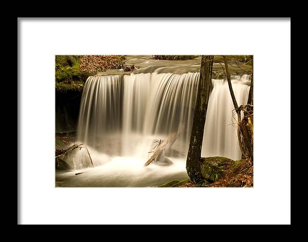 Silken Framed Print featuring the photograph Silken Waterfall by Douglas Barnett