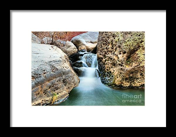 Water Framed Print featuring the photograph Silky Waters Of Jemez Springs by Jeff Swan
