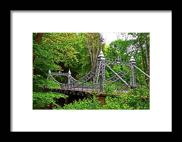 Mill Creek Park Framed Print featuring the photograph Silver Bridge 004 by George Bostian