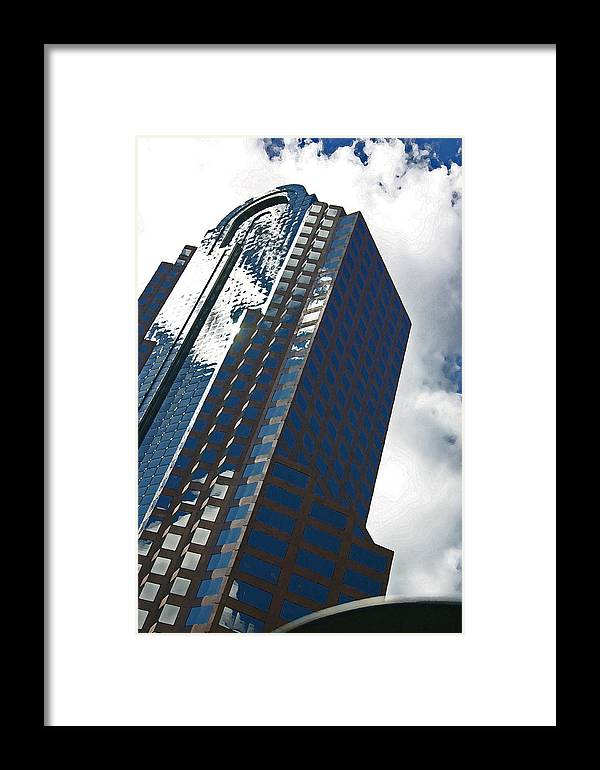 Sdy Scraper Framed Print featuring the photograph Silver Building by Beebe Barksdale-Bruner