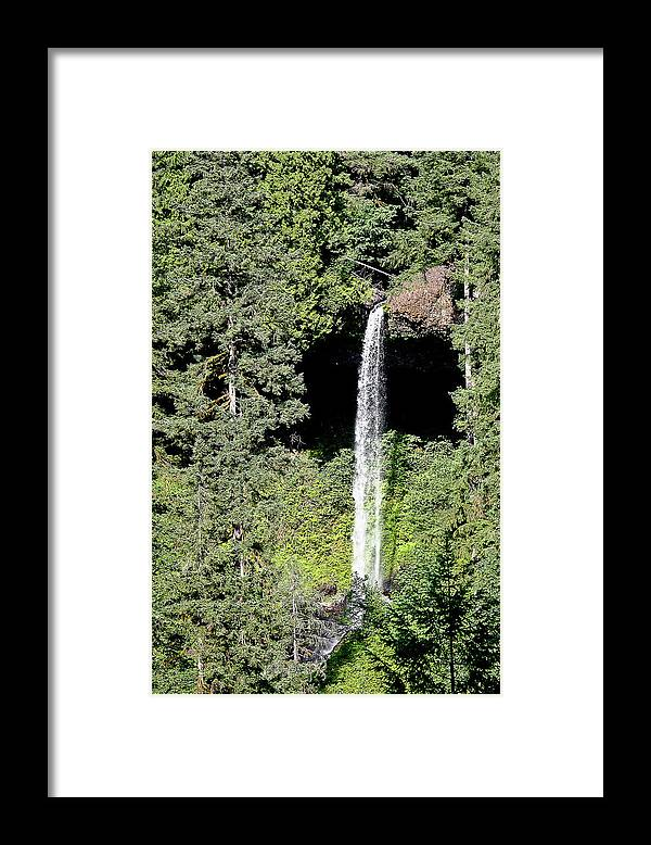 Waterfalls Framed Print featuring the photograph Silver Falls Or by Liz Santie