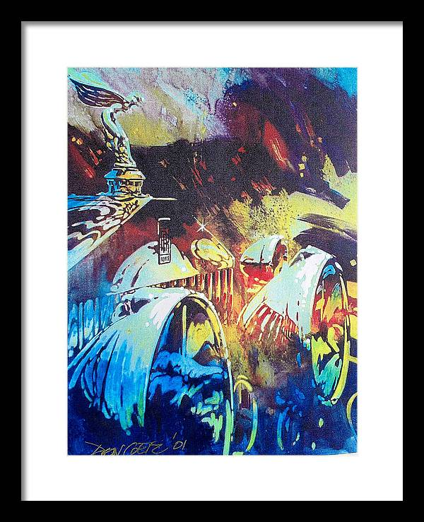 Automotive Art;hood Ornament;car;automobile;impressionistic;headlights; Framed Print featuring the painting Silver Lady by Don Getz