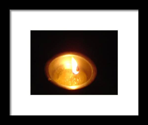 Indian Framed Print featuring the photograph Silver Lamp by Usha Shantharam
