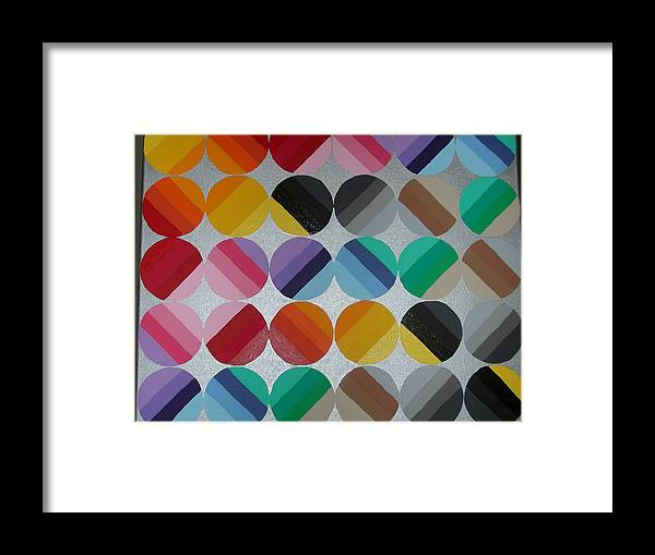 Circles Of Yellow Framed Print featuring the painting Silver Lining by Gay Dallek