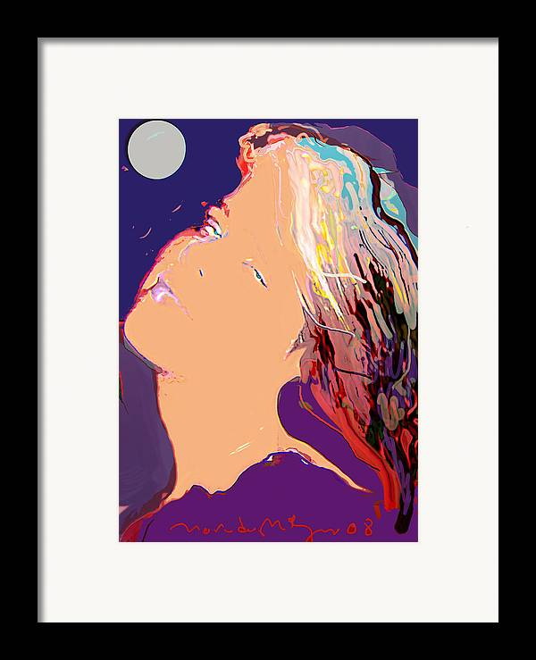 Human Composition Framed Print featuring the painting Silver Moon by Noredin Morgan
