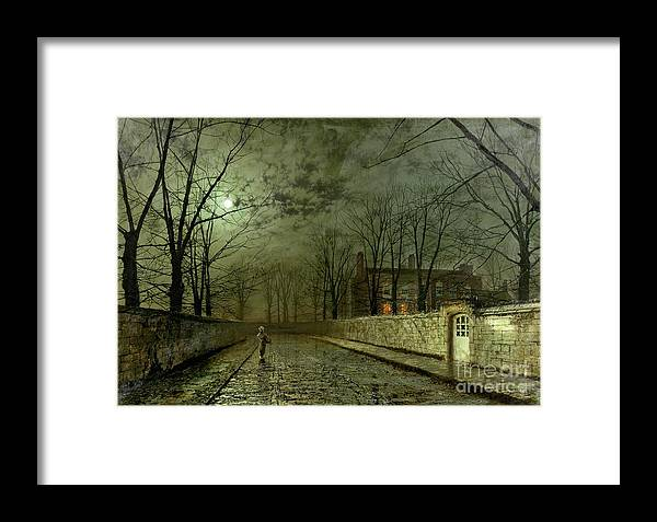 Silver Moonlight Framed Print featuring the painting Silver Moonlight by John Atkinson Grimshaw
