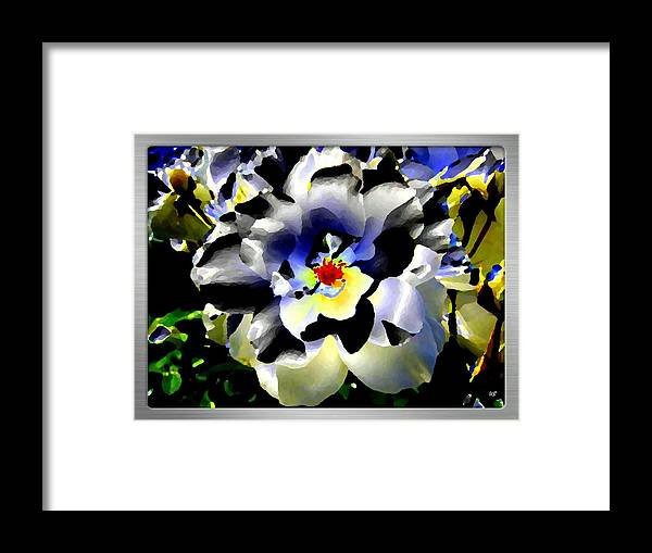 Rose Framed Print featuring the digital art Silver Rose by Will Borden