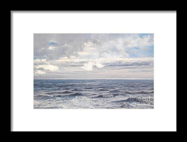 Seascape Framed Print featuring the painting Silver Sea by Henry Moore