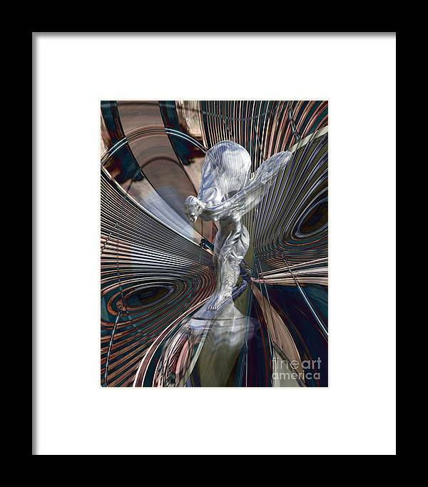 Car Framed Print featuring the digital art Silver Shadow by Chuck Brittenham