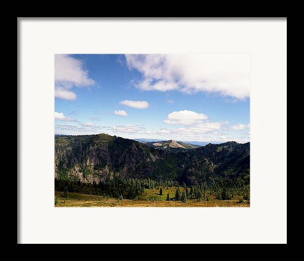Nature Framed Print featuring the photograph Silver Star Mountain Top by Benjamin Garvey