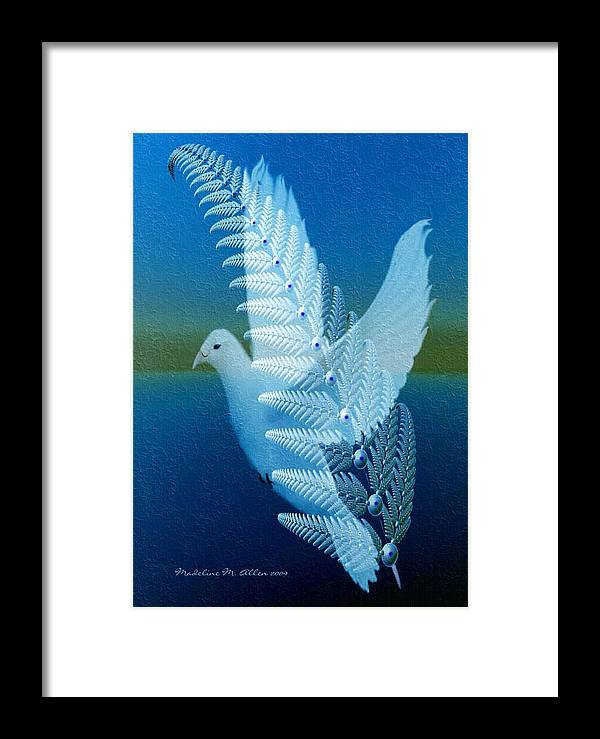 Smudgeart Framed Print featuring the digital art Silver-wing by Madeline Allen - SmudgeArt