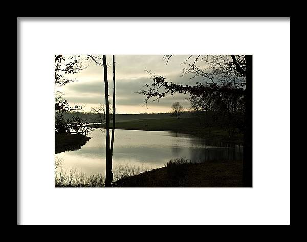 Lake Framed Print featuring the photograph Silver Winter Lake by Douglas Barnett