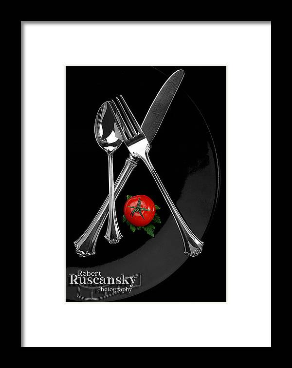 Product Sliverware Framed Print featuring the photograph Silverware by Robert Ruscansky