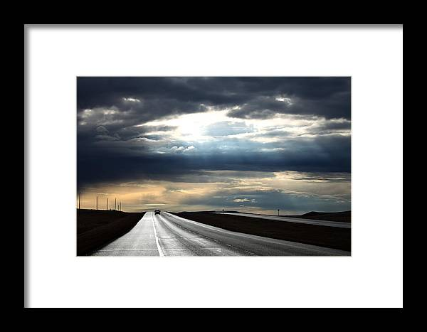 Weather Framed Print featuring the photograph Silverway by Darcy Dietrich