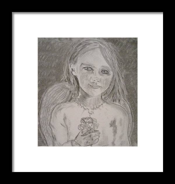 Angels Framed Print featuring the drawing Silvia by J Bauer