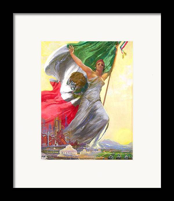Mexico Framed Print featuring the painting Simepre Mas Que Ayer by Eduardo Catano
