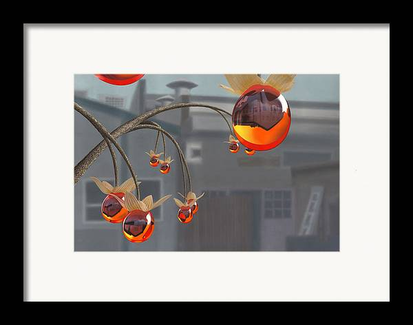 Orange Framed Print featuring the painting Simmondsia Vitra by Patricia Van Lubeck